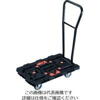 TRUSCO 連結式樹脂製平台車 ビートル 700X450 自在3輪 脱着式ハンドル付 とめたろう付 206-8655(直送品)