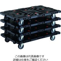 TRUSCO 連結式樹脂製平台車 ビートル 900X600 自在3輪 まとめ買い4台 BT900J3-E100-M4 206-3344(直送品)