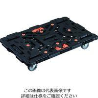 TRUSCO 連結式樹脂製平台車 ビートル 900X600 自在3輪 とめたろう付 BT900J3-E100T 206-3293(直送品)