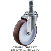 ユーエイ ねじ込みキャスターステンレス製自在車 100径ウレタン車輪P1.75 SUS-ET-100UR-M12-35 809-3238(直送品)