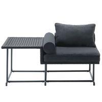 杉田エース MA-ソファ・シングル・イドテーブル付き 660153 1台(直送品)