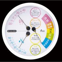 シンワ測定 熱中症注意 丸型 15cm ホワイト 70505 1箱(5個入)(直送品)