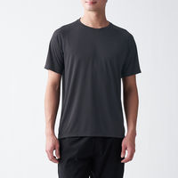 無印良品 吸汗速乾UVカットTシャツ 紳士 M 黒 良品計画