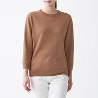 無印良品 UVカットフレンチリネンクルーネックセーター 婦人 M スモーキーブラウン 良品計画