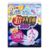 ナプキン 生理用品 特に多い夜用 羽つき ソフィ 超熟睡ガード涼肌360 1個(14枚) ユニ・チャーム