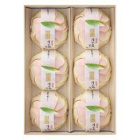 三越伊勢丹 清水白桃ぜりぃ 1箱(6個入)三越の紙袋付き 手土産ギフト 母の日