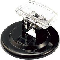 リクライニングソリッドカード立て 差し込み部分:W22×H15mm ブラック RT-46D 30個 西敬(直送品)