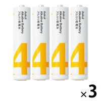 アスクル アルカリ乾電池 単4形 12本