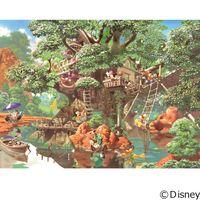 テンヨー ディズニー ジグソーパズル 1000ピース ふしぎの森のツリーハウス D-1000-369 1セット(直送品)