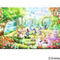 テンヨー ディズニー ジグソーパズル ステンドアート 1000ピース バラの香りのガーデンパーティー DP-1000-034 1セット(直送品)
