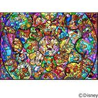 テンヨー ディズニー ジグソーパズル ステンドアート 1000ピース オールスター ステンドグラス DS-1000-764 1セット(直送品)
