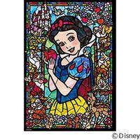 テンヨー ディズニー ジグソーパズル ステンドアート 266ピース 白雪姫 ステンドグラス DSG-266-957 1セット(直送品)
