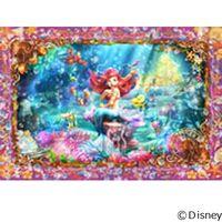 テンヨー ディズニー ジグソーパズル ステンドアート 500ピース ビューティフル マーメイド アリエル DSG-500-465 1セット(直送品)