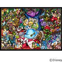 テンヨー ディズニー ジグソーパズル ステンドアート 500ピース ふしぎの国のアリス ストーリー ステンドグ DSG-500-473(直送品)