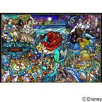 テンヨー ディズニー ジグソーパズル ステンドアート 500ピース リトル・マーメイド ステンドグラス DSG-500-485 1セット(直送品)
