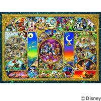 テンヨー ディズニー ジグソーパズル 1000ピース 世界最小 ディズニーキャラクターワールド DW-1000-260 1セット(直送品)