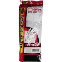 カジメイク 純綿スムス手袋 マチつき 12双組 M 白 9103-M-白 1セット(12双組)(取寄品)