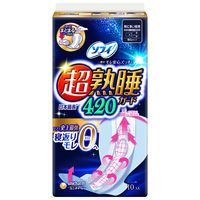 ソフィ超熟睡ガード420 特に多い日の夜用 羽つき 42cm 10枚入×3個 生理用ナプキン ユニ・チャーム
