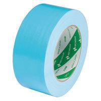 【ガムテープ】カラー布粘着テープ 102N20-50 0.30mm厚 50mm×25m ライトブルー ニチバン 1巻