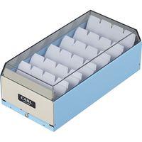 カール事務器 カードファイルケース ライトブルー 名刺収容600枚 CFC-600-T 1個