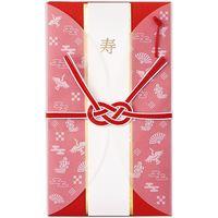 日本ホールマーク 金封 祝儀袋 寿 御結婚御祝 多当 羽衣祝儀紅 白 795085 6パック(直送品)