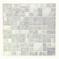 エス・ティー・イー タイルステッカー モザイクタイル ミックスホワイト 2枚入 ITL010 1セット(4枚:2枚×2セット)(直送品)