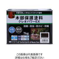 和信ペイント 水性木材防腐防虫塗料 クレオパワーEX 7kg ダークウォルナット 4965405163230 1缶(7kg)(直送品)