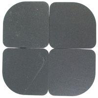 イノアックコーポレーション(INOAC) 振動吸収パッド シンドパット冷蔵庫用 77X77×7mm 黒 4枚入 SP-C700(直送品)