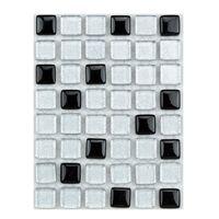ミキ ガラスモザイクタイル MIX シルバー・ブラック MKG-20MIX 1セット(2個)(直送品)