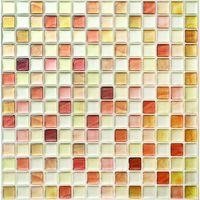マスターリンクス タイルシール クラックオレンジ 310×310×1mm BST-6 1枚(直送品)