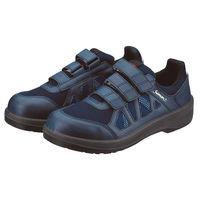 シモン JSAA安全靴 プロスニーカー 8918 ネイビー マジック式 26.5 1足(直送品)
