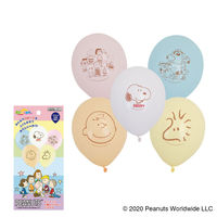 PEANUTS(スヌーピー) 5個入バルーン パステル 1袋入 0702120123 宝興産(直送品)