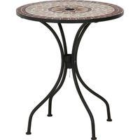 不二貿易 モザイクテーブル 幅610×奥行610×高さ695mm 星柄 10655 1台(直送品)