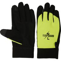 小野商事 PU手袋 フレキシガード タッチパネル対応 Lサイズ 1双 AG6761 黄(直送品)