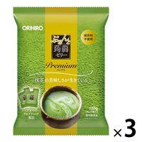 ぷるんと蒟蒻ゼリーパウチ プレミアム抹茶 3個 オリヒロ 栄養補助ゼリー