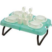 キャプテンスタッグ ピクニックテーブル&食器セット UT-0056 1個(直送品)