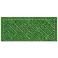 ベストコ 玄関マット 24×55cm グリーン 泥落とし 水洗いOK グラススタイルマット 芝生調 ND-611(直送品)
