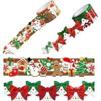 WRC カタカタ マスキングテープ クリスマス クッキー&リボン 30mm幅 2柄セット W01-DT2-Xmas1 1セット(2個入)(直送品)