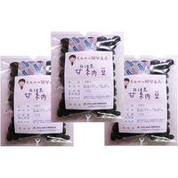豆力 国内産 丹波黒甘納豆 100g×3袋 <BR> 【国産、お菓子、黒大豆、黒豆、絞り】 (直送品)