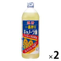 理研 一番搾りキャノーラ油 1500g 2個