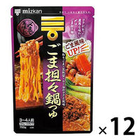 ミツカン 〆まで美味しいごま担々鍋つゆ ストレート 750g 12個
