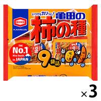 亀田製菓 亀田の柿の種9袋詰 252g 1セット(3袋入)