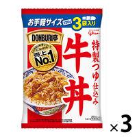 グリコ DONBURI亭3食パック牛丼 120g 1セット(9食)