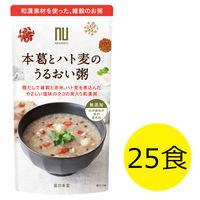 薬日本堂(ニホンドウ) 本葛とハト麦のうるおい粥 1セット(180g×25食)