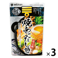 ミツカン 〆まで美味しい 焼あごだし鍋つゆ ストレート 3個