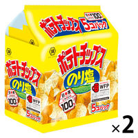 コイケヤ(湖池屋) ポテトチップス のり塩 5個パック 1セット(2袋入)