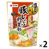 ヤマキ だしで味わうだし屋の鍋 豚しゃぶ野菜鍋つゆかつお 750g 1セット(2袋)