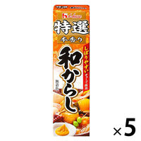 ハウス食品 特選本香り和からし 42g 5個