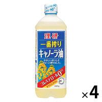 理研 一番搾りキャノーラ油 1000g 4本