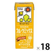 キッコーマン 豆乳飲料 フルーツミックス 200ml 1箱(18本入)